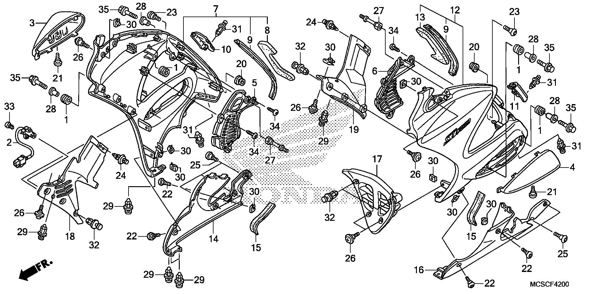 Honda OEM Part 64328-MCS-G00ZH