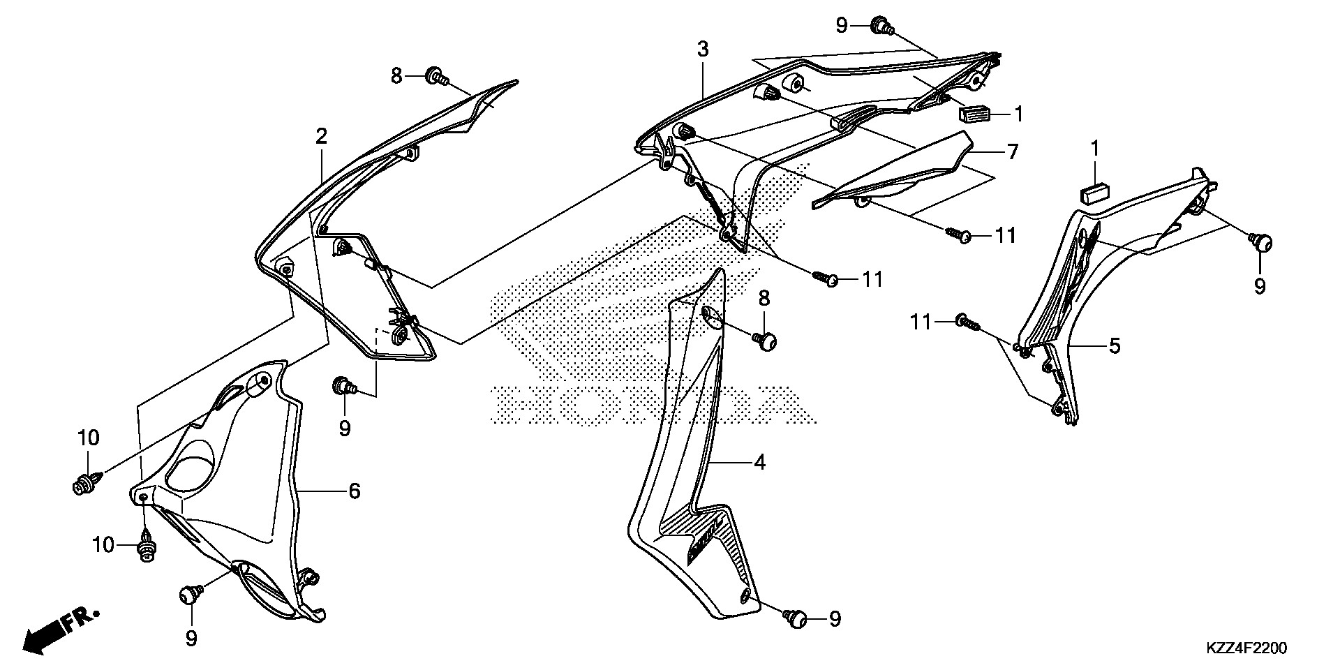 Honda OEM Part 19160-KZZ-900