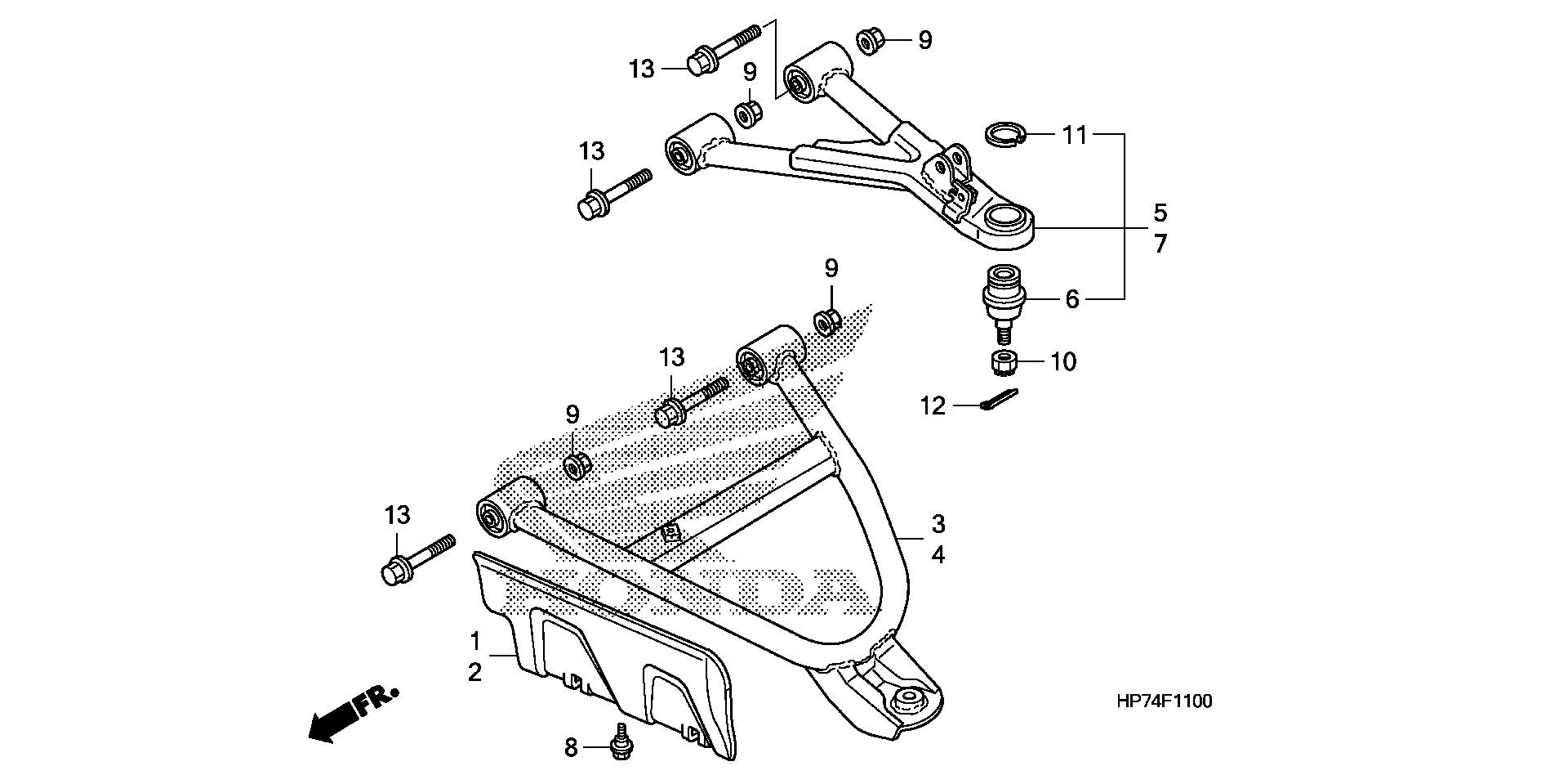 Honda OEM Part 90658-HP5-600