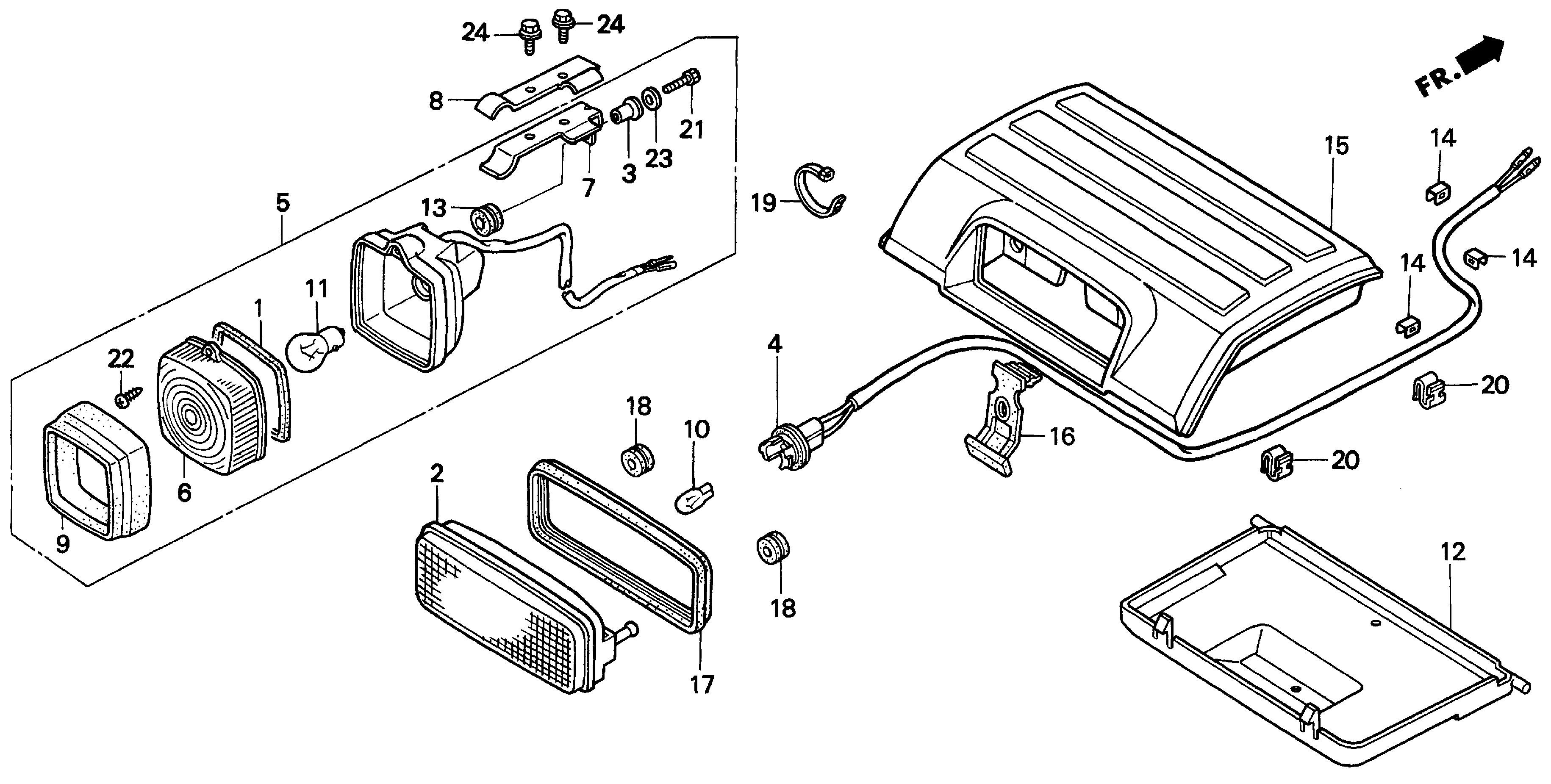 Diagram Of Honda Atv Parts 2000 Trx300 A Taillight Diagram