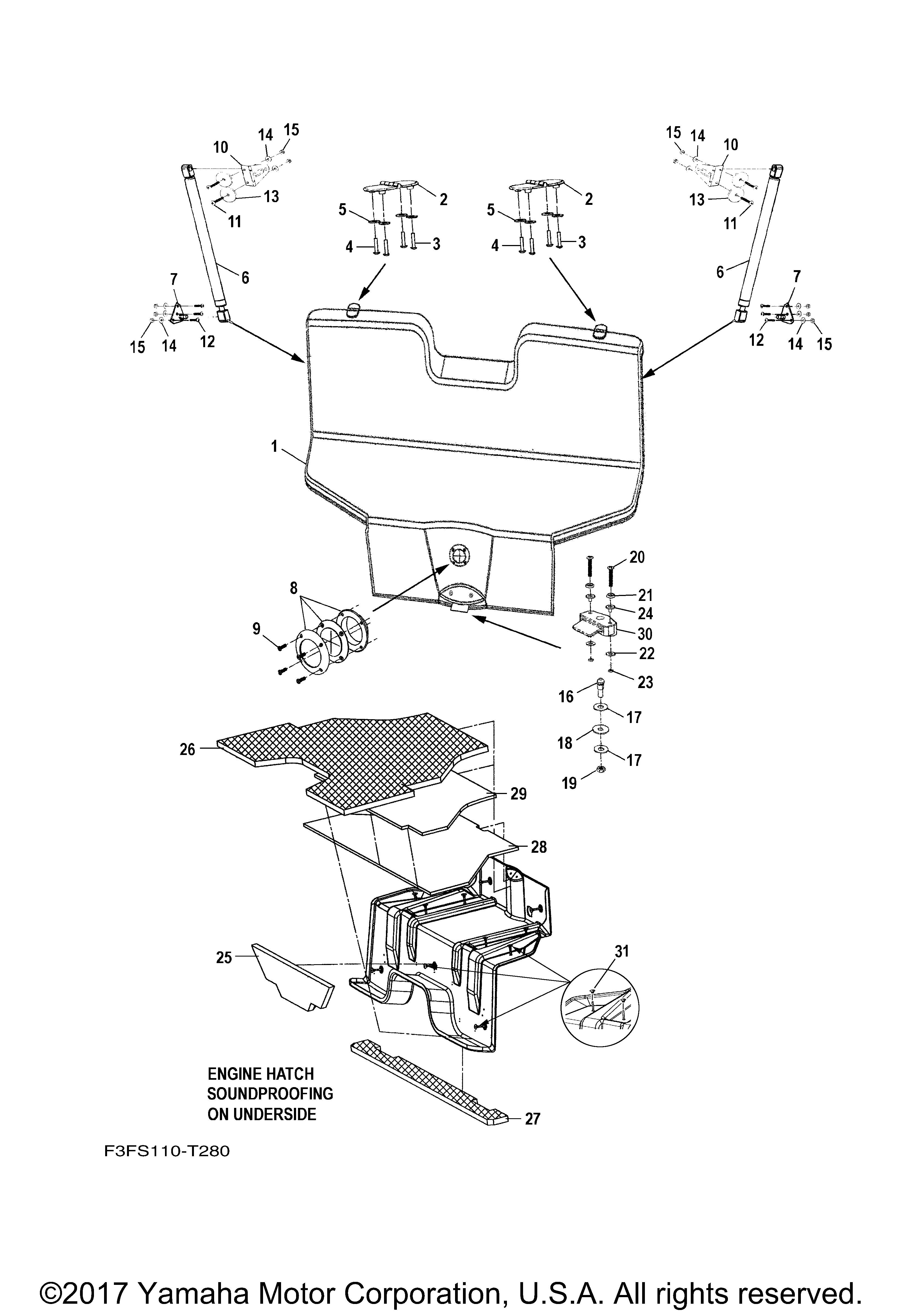 Yamaha OEM SCREW 90149-14SD2-00