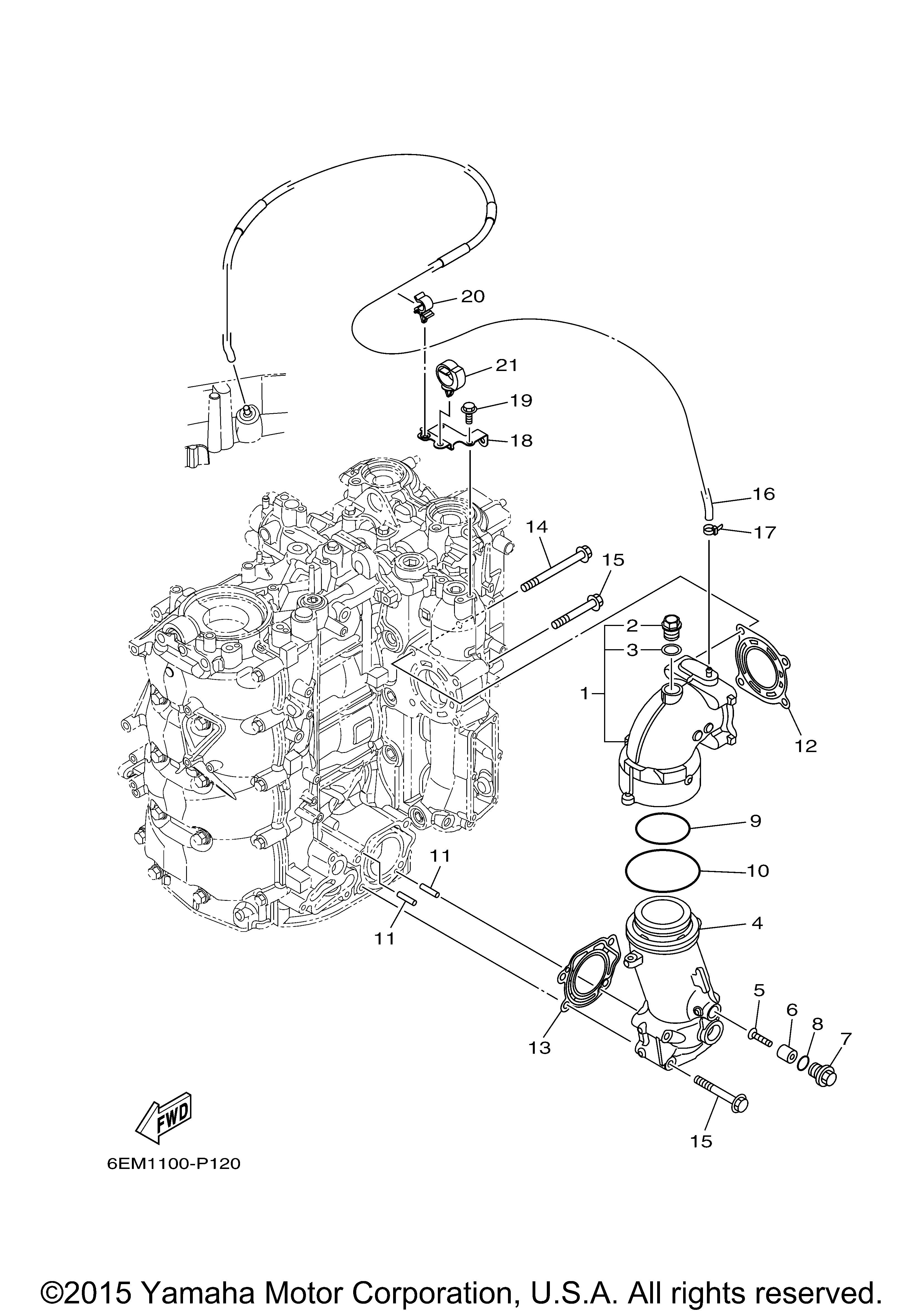 Yamaha OEM Part 6EK-41114-00-00