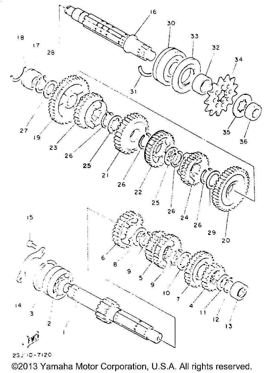 3rd pinion 2GU171310000 New Genuine OEM Part 2GU-17131-00-00 Yamaha Gear