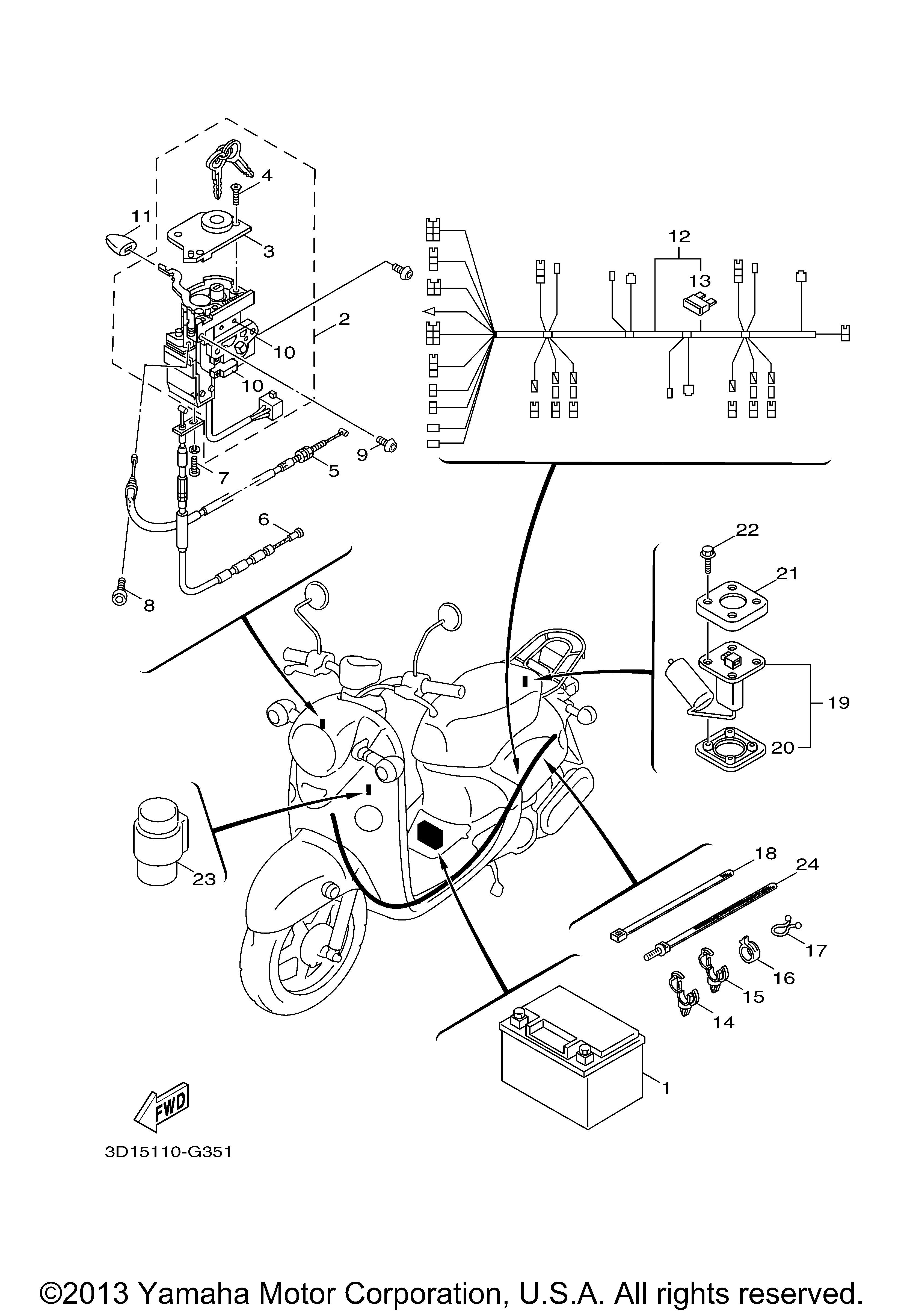 Yamaha OEM Part 5ST-H2370-01-00
