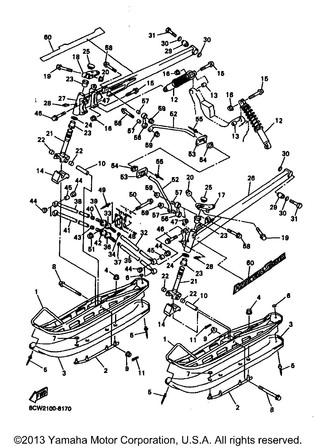 Tie; 8CS238310000 Made by Yamaha Yamaha 8CS-23831-00-00 Rod