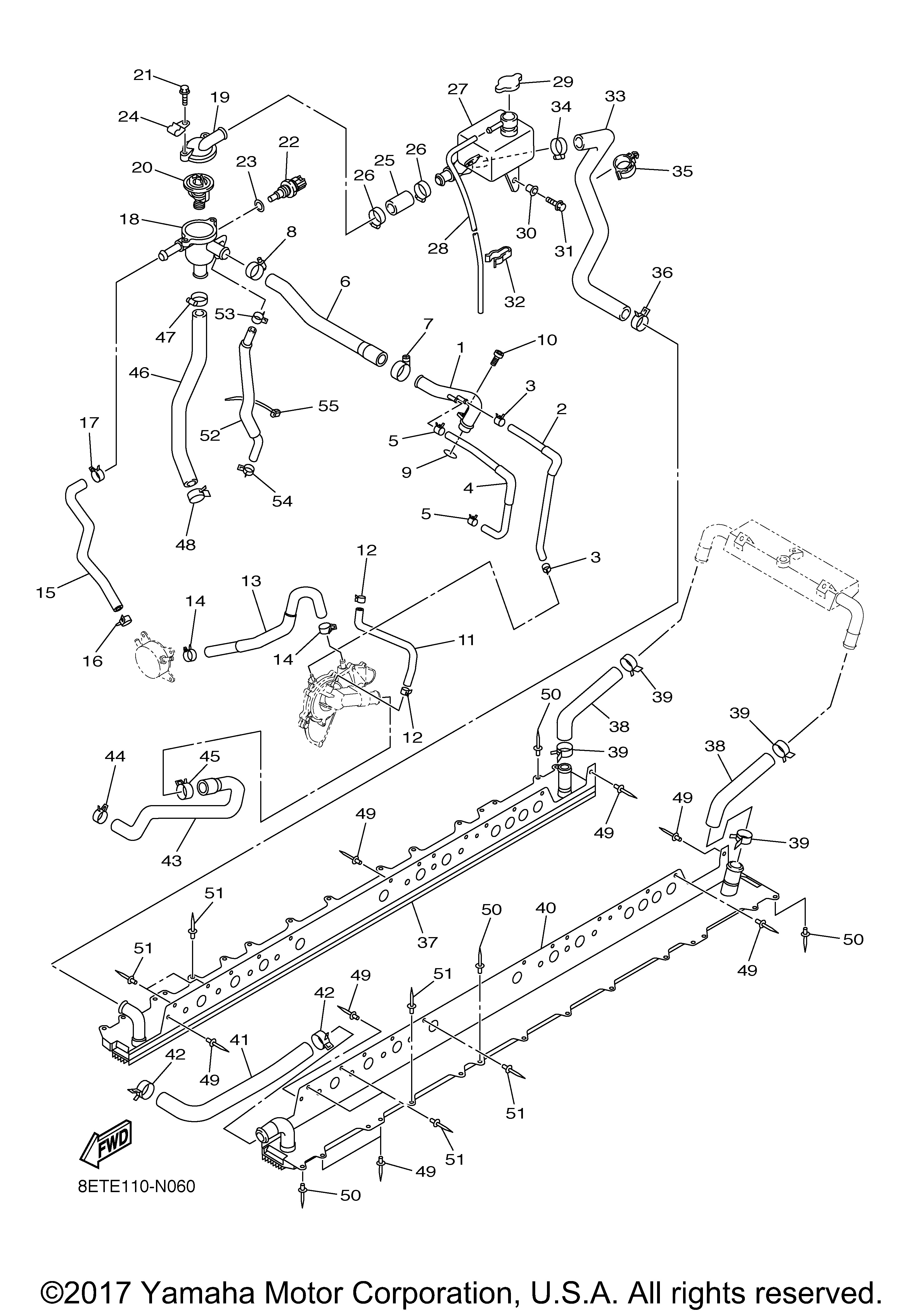 Yamaha OEM Part 8FA-17645-10-00