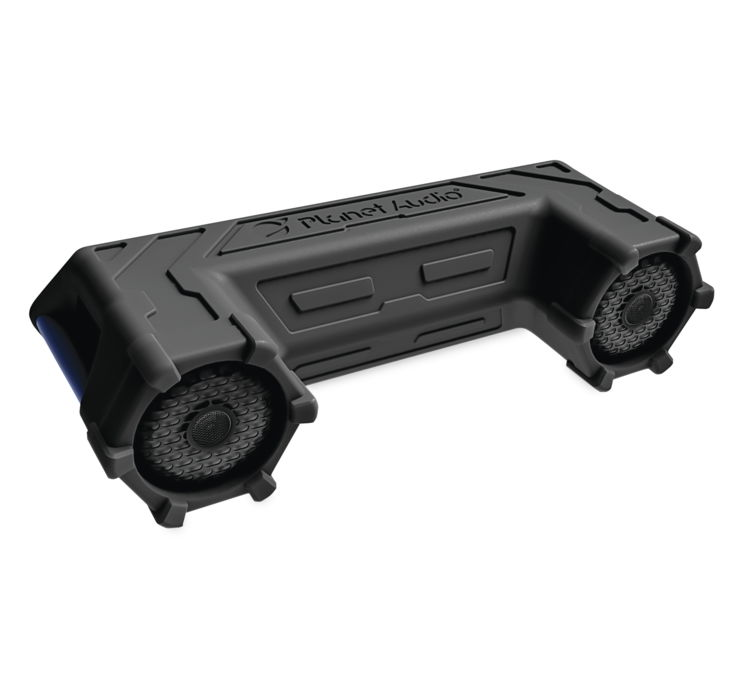 Sound System with LED Light Bar and Storage System