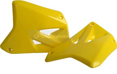 Polisport Radiator Shroud Yellow /'01-08 Suzuki RM125//250-8423000001