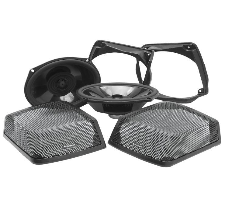 Rockford Fosgate Power Rear Audio Kit 98-13 Harley Touring w//hard bags TMS69BL98