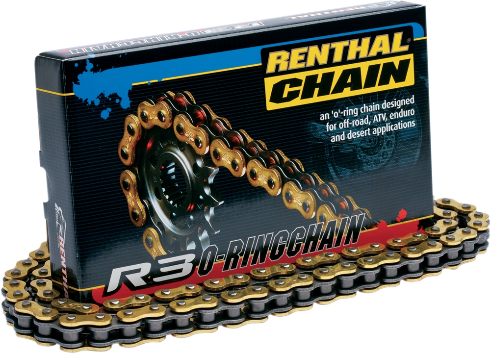 Renthal R3-3 520 X 120 O-Ring Offroad MX Drive Chain Gold Colored #C416