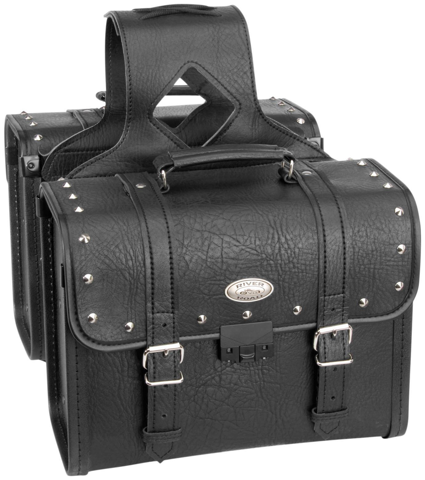 Rigid Zip-Off Saddlebag with Security Lock
