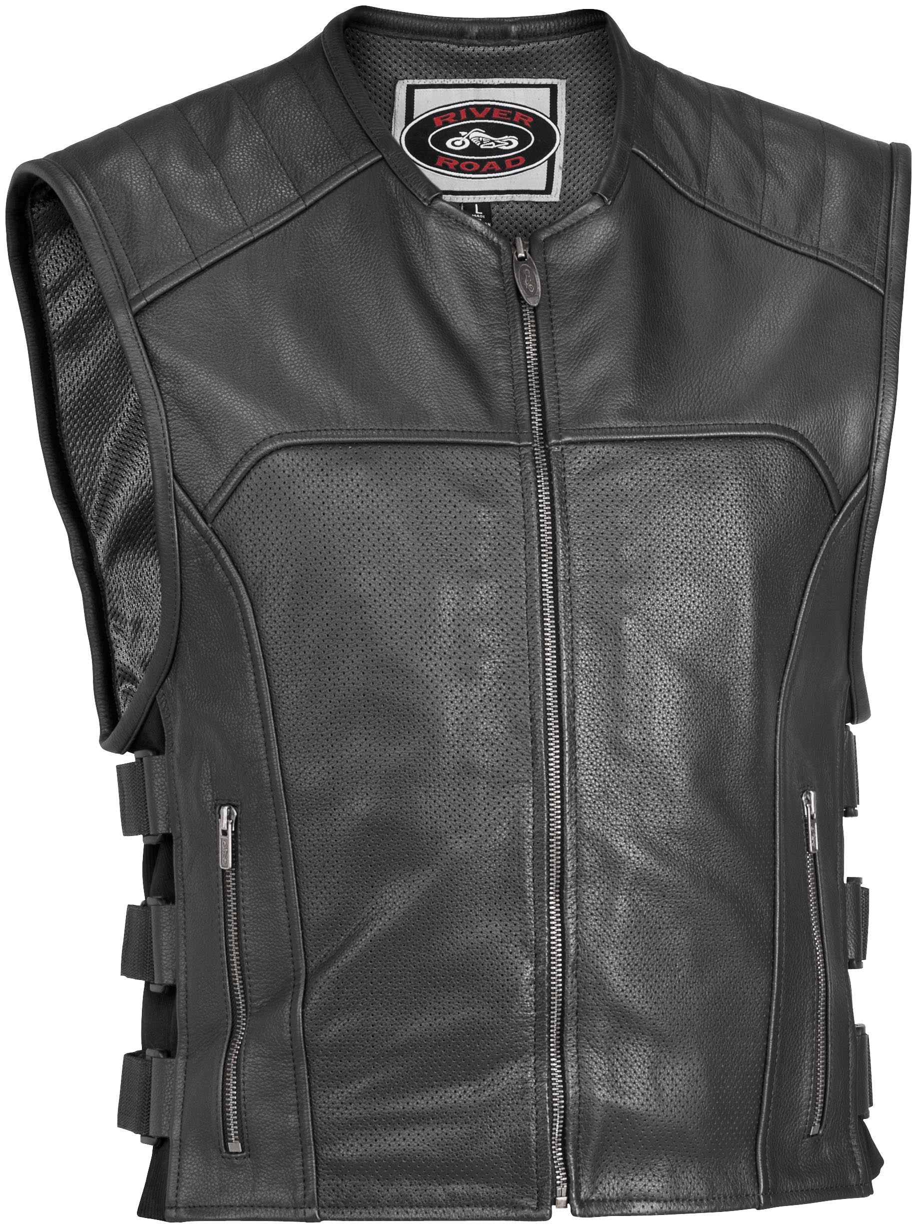 Ruffian Perforated Leather Vest