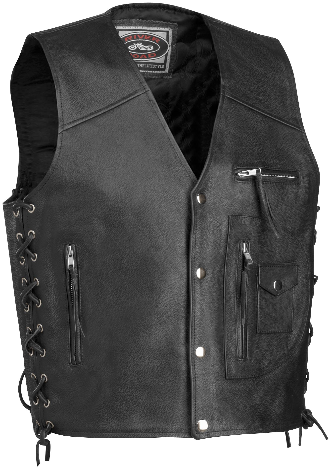 4-Pocket Leather Vest