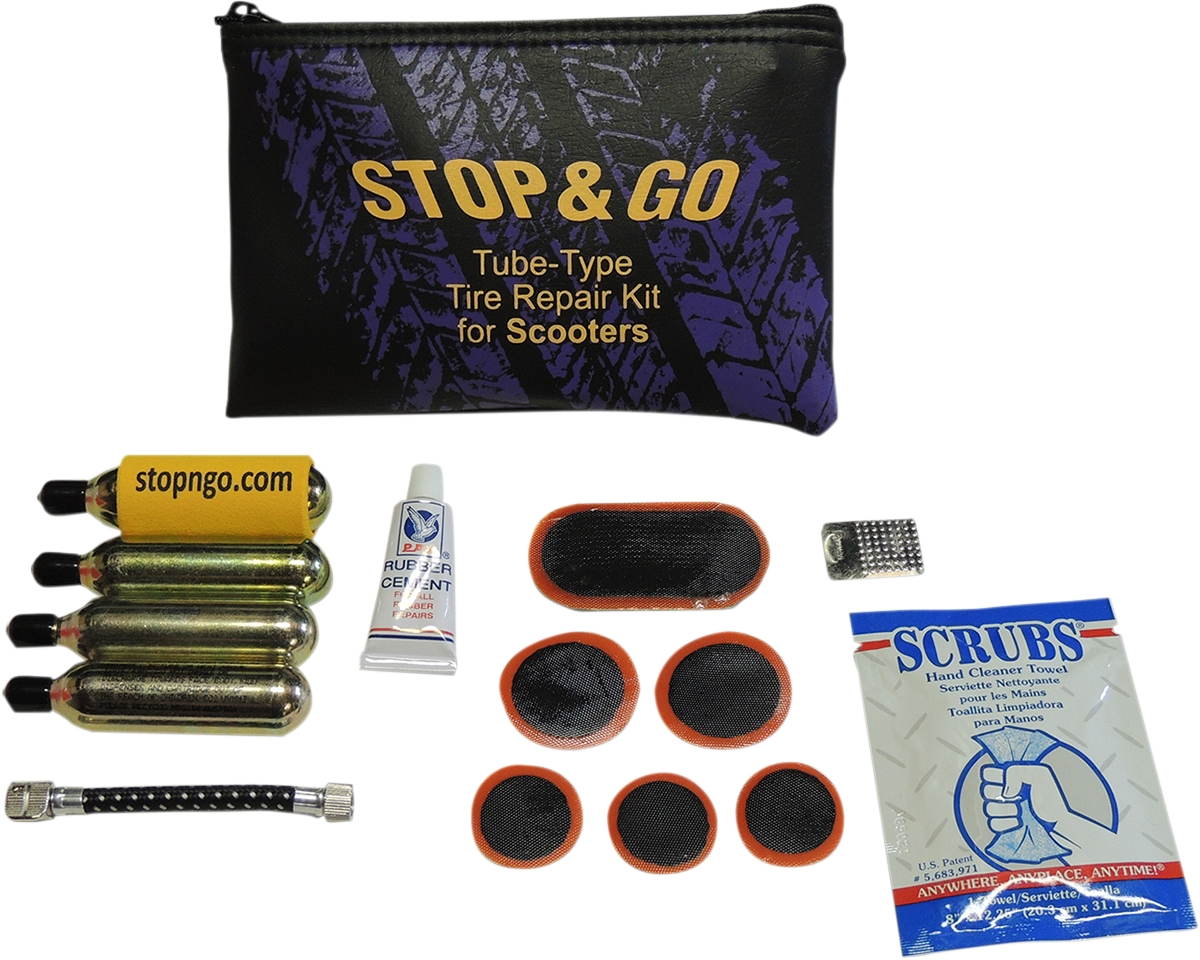 Scooter Tire Repair and Inflation Kit