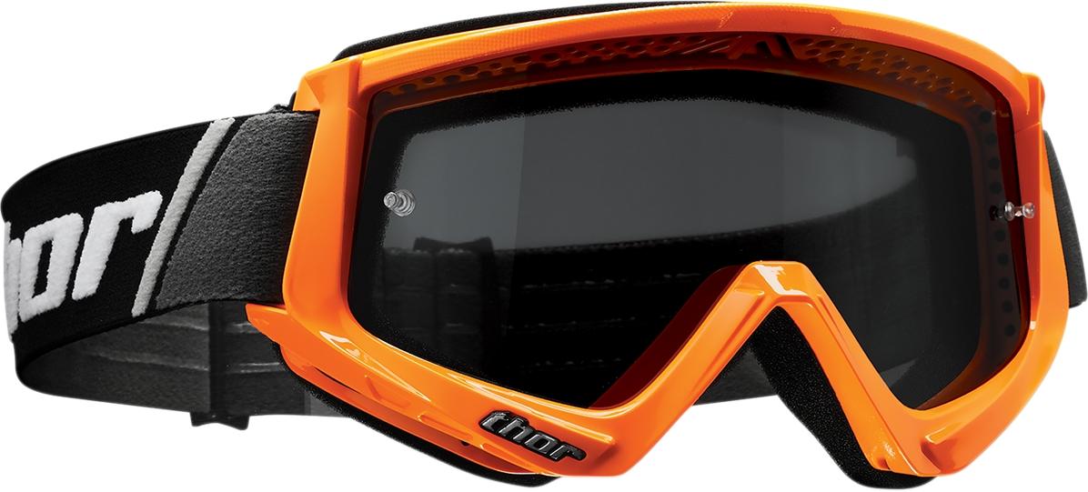 Thor Combat Sand Goggles 2601-2087 Four Orange//Black Smoke