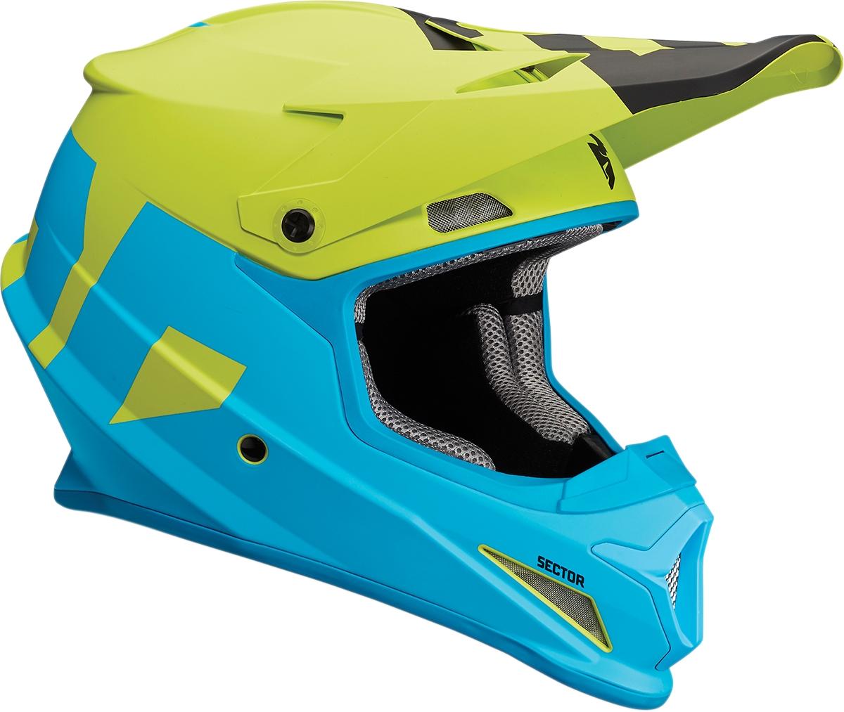 Blue//Red THOR MX Motocross Kids 2018 SECTOR Level Offroad Helmet Youth Medium
