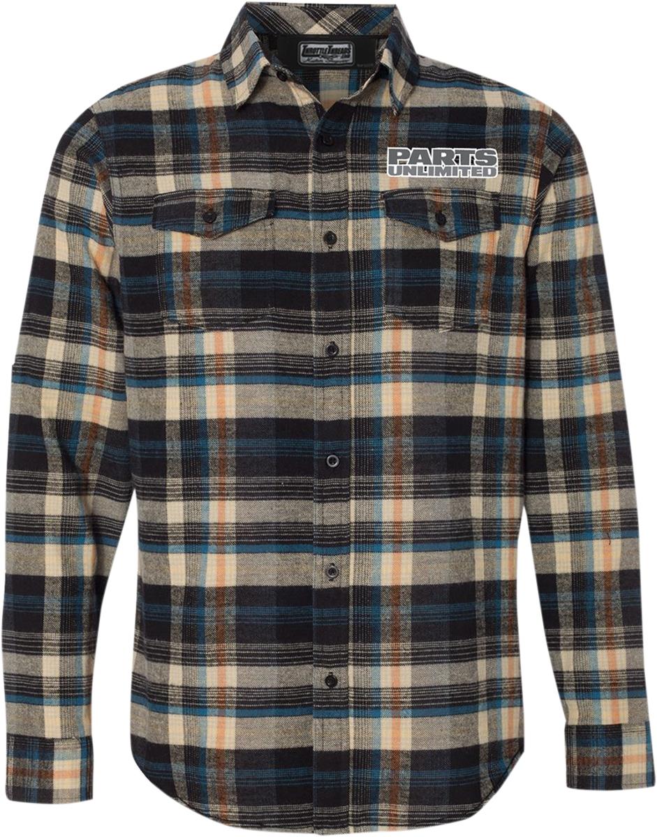 Parts Unlimited Plaid Flannel Shirt