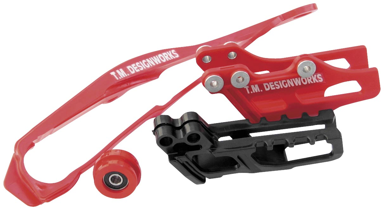 T.M Red DCS-H15-RD Designworks Dirt Cross Super Front Chain Slider