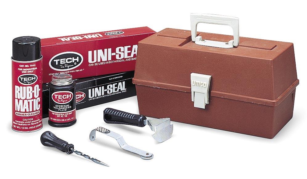 Tubeless Tire Shop Repair Kit Uni-Seal Repairs 1/8in. Stem