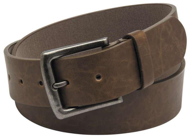 Brown Belt with Antique Nickel Buckle