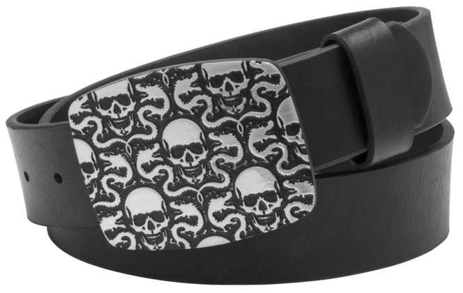 Nickle Skulls and Dragons Belt