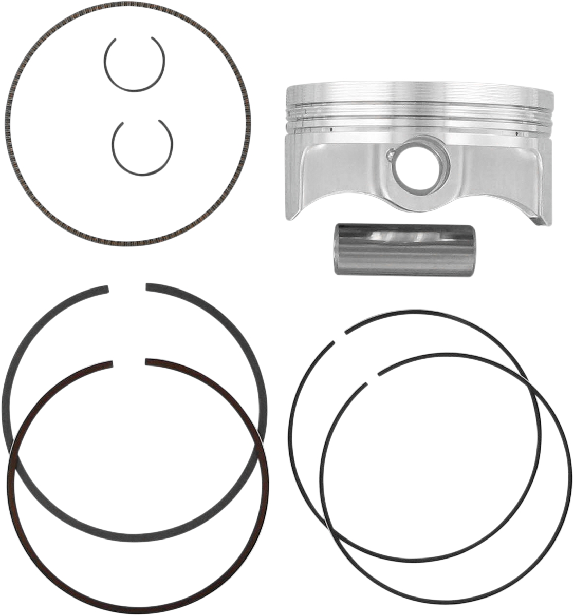 Wiseco 4882M07700 77.00mm 12.5:1 Compression 250cc Motorcycle Piston Kit