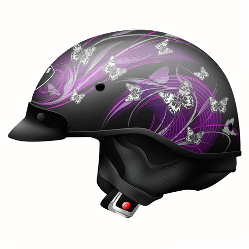 Route 66 Butterfly Half Helmet