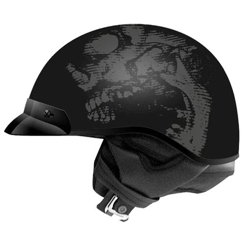 Route 66 Skull Half Helmet