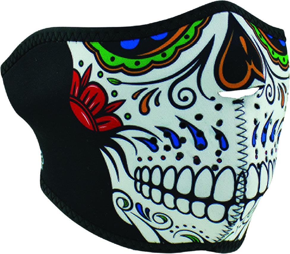 Zan Zan Headgear WNFM413H Half-Face Neoprene Mask Muerte Skull